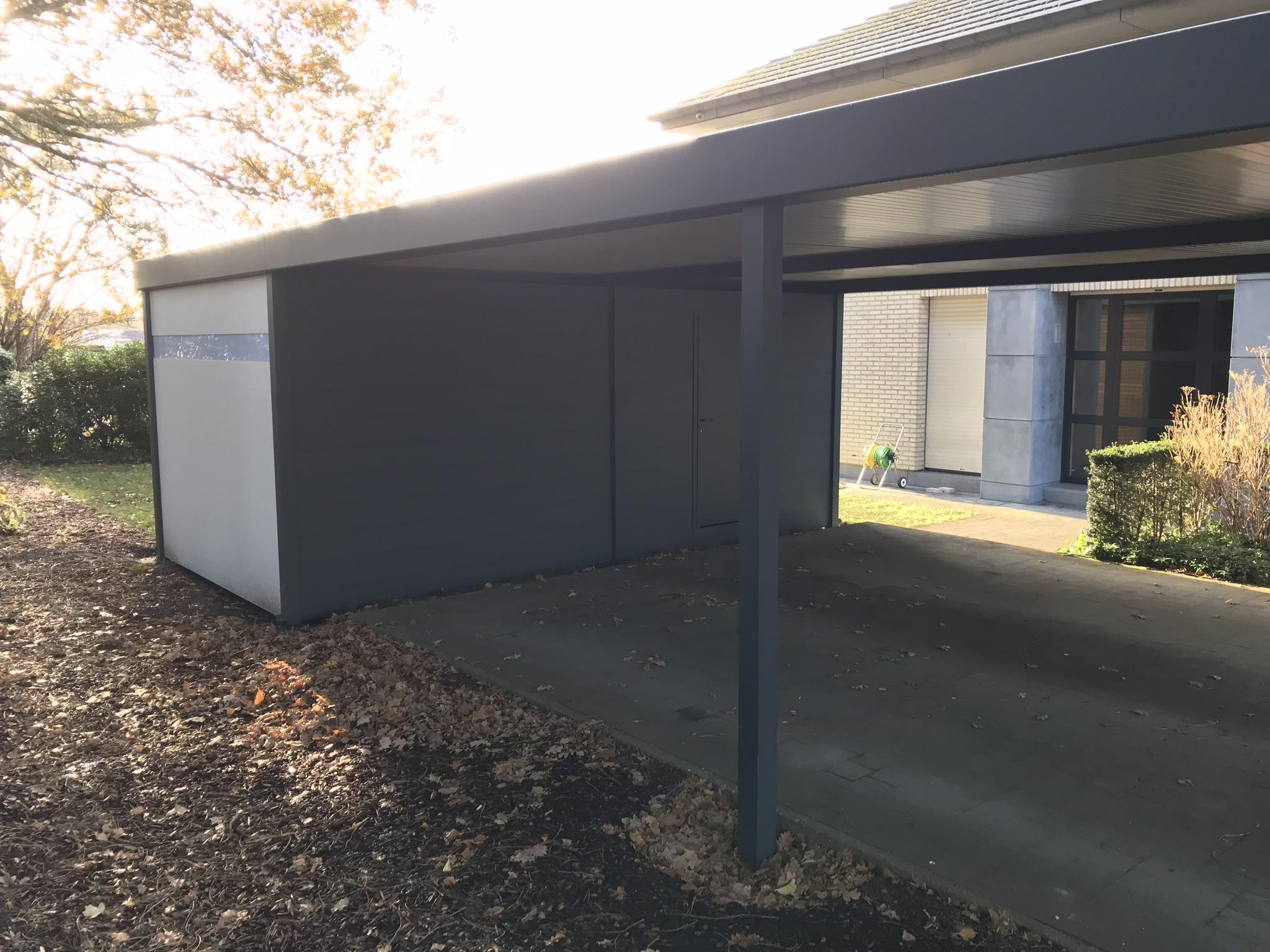 Nieuw Metallooks I aluminium tuinhuis in carport - Metallooks OG-01